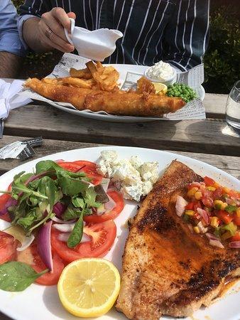 Fabulous food at The Horseshoes Upshire