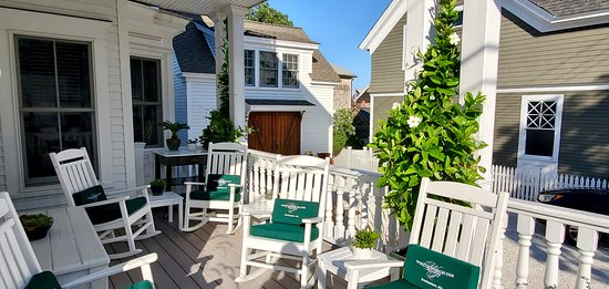 Relax on the porch at the White Porch Inn - P'town finest boutique art hotel.