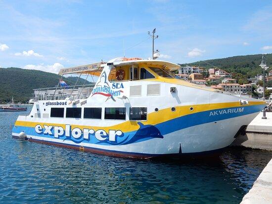 Rabac, Hrvatska: Akvarium glass boat
