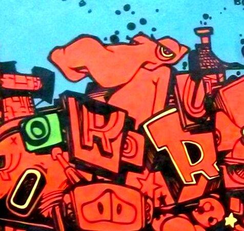 """Fresque """" Hommages """" De Rétro Graffitism"""