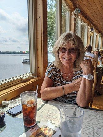 Carp Lake, MI: Lakeside dining