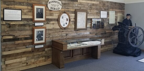 The Civil War exhibit explains how the Stars and Stripes was first printed in Bloomfield.