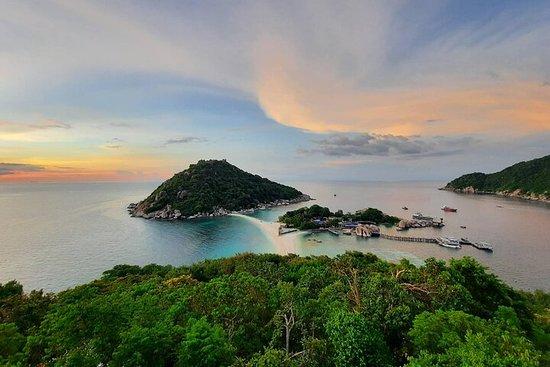 从Koh Phangan乘坐快艇前往Koh Nangyuan和Koh...