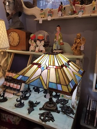 Handmade stained glass lamp
