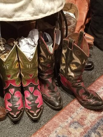 Fashionable vintage boots and shoes