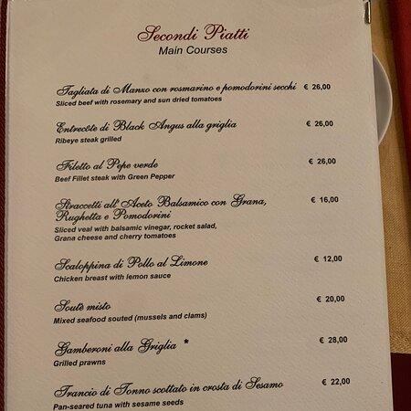 Excellent - great food & wine