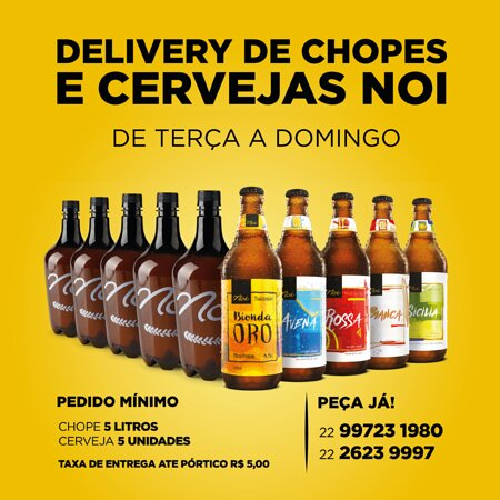 Experimente o melhor da cervejaria artesanal. Delivery de Chopes e Cervejas Noi.