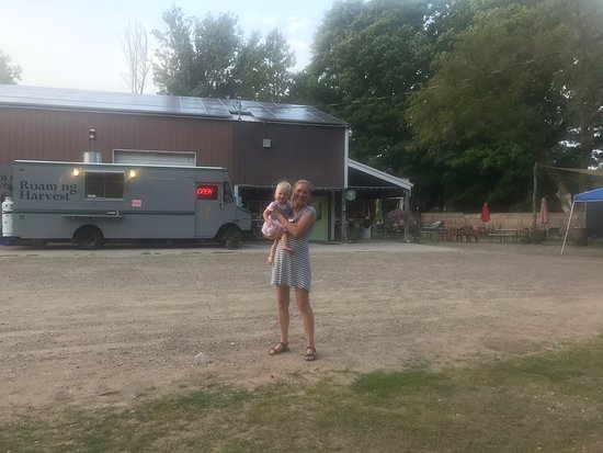 Kaleva, MI: Great ciders and a great place for kids to run around.
