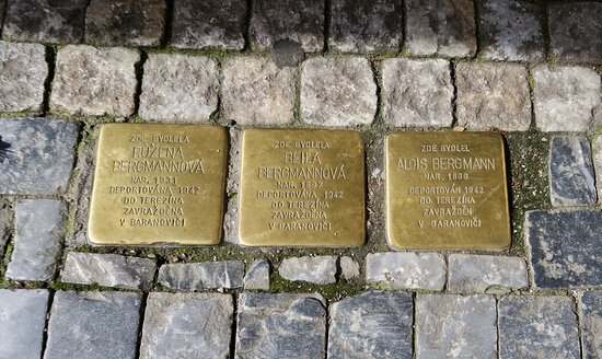 Stolperstein Klara, Karel Mahler: Brass plaque