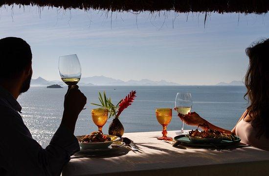 Almoço com vista mar