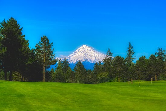 Gresham, OR: View from the course: Mt. Hood