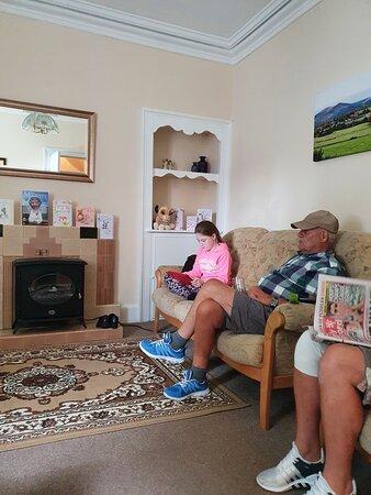New Abbey, UK: living room at Limetree house.
