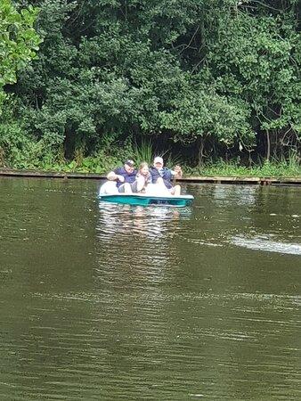 New Abbey, UK: Boating at Mabie Farm Park