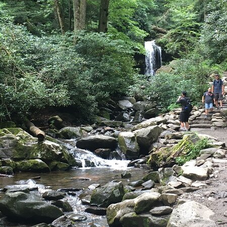 Walk behind the waterfall!