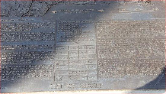 Pozieres, Frankreich: 1st Australian Division Memorial