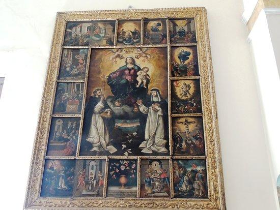 Roggiano Gravina, إيطاليا: Icona della Vergine Maria col Bambino  e  S.francesco e S.Chiara, attorniato da quadretti della vita di Gesù e di Maria,interpreto
