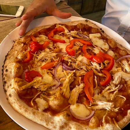Lovely wood fired pizza