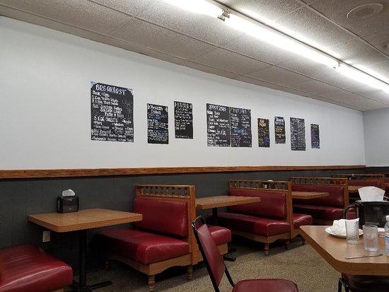 Cavalier, Dakota Północna: Wall menu.