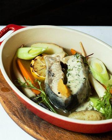 Fish in fresh veggies