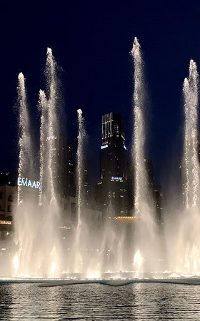 Catch the magical Dubai Fountain show, daily, every 30 minutes, from 6pm - 11pm from the Hurricane's Grill terrace