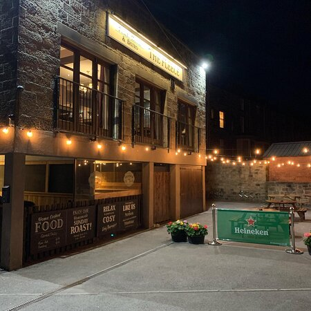 Our Beer Garden at Night