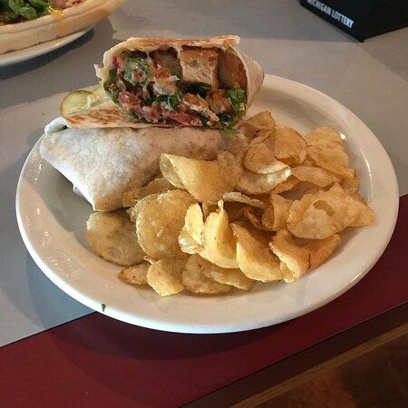 Vanderbilt, MI: Chicken & bacon with ranch wrap ~