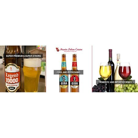 Super Premium & Super Refreshing legend 1000, Cool & Refreshing BIRA 91 INDIAN BEER 🍺, Domestic & Imported Wines🍷  www.masaladecatur.com