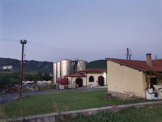 Wine making tanks.
