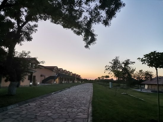 Sunset over the apartments