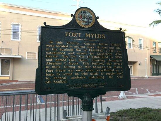 Fort Myers Historical Marker