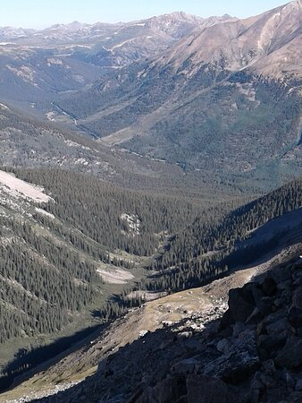 Chaffee County, CO: That's hwy 82 in the valley, down where you park - a long way from the summit.