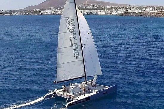 Catamaran F40 Lanzarote sailing