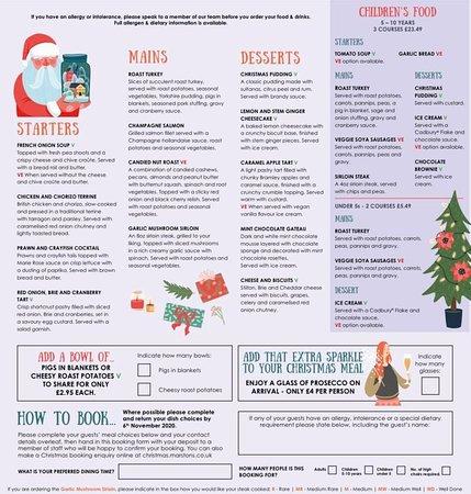 Your Christmas Day menu! :)