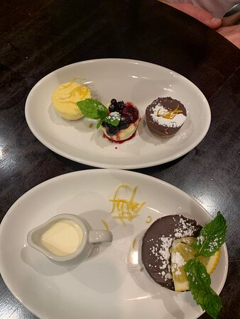 Food was amazing , loved the desserts , the service from karen was brilliant she couldn't do enough for us definitely will be visiting again