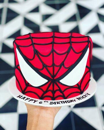 """Suay meh""?! 😉.....,.Happy birthday Nikky! #phuket #birthday #cake #spiderman theme 😘😘"