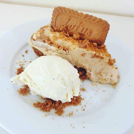 Upavon, UK : Homemade biscoff cheesecake