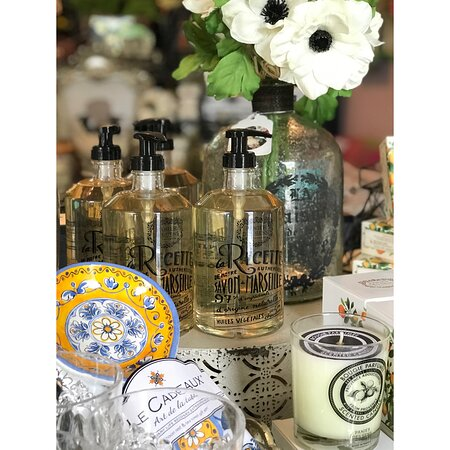 Beautiful french soap, lotions, candles, and more!