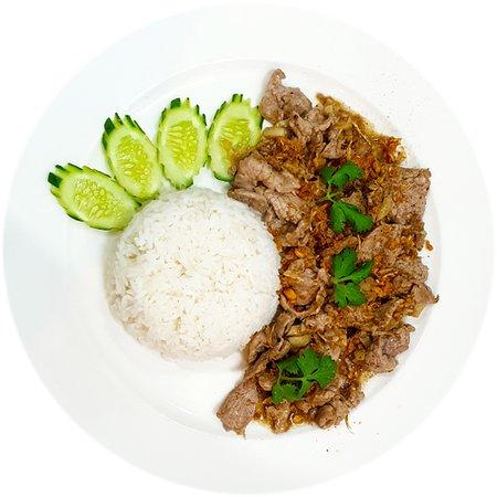 Stir Fried Pork with Garlic Rice Plate