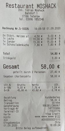 Teterow, Đức: Rechnung