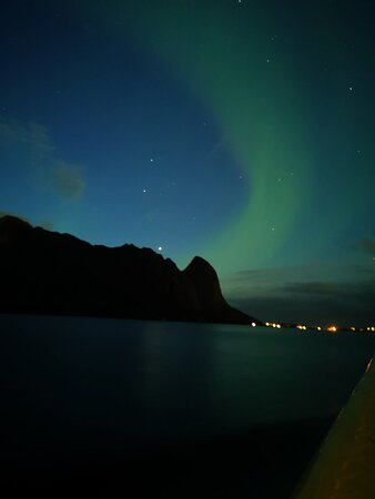 Aurora hunting from the boat!