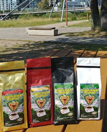 Genova, Kolumbien: Our presentation of Boutique AromaGenoves coffee.