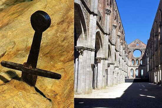 The Sword In The Stone Tour With Lunch and Wine Tasting in Chianti