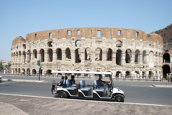 Fun Moving Golf cart tour Rome