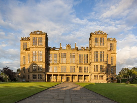 Derbyshire, UK: The front of the Hall at Hardwick