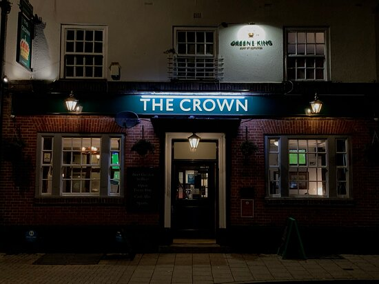 Stockport, UK: Front of the Crown after a very busy night.