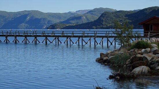 Pier vor Rognan Fjordcamp