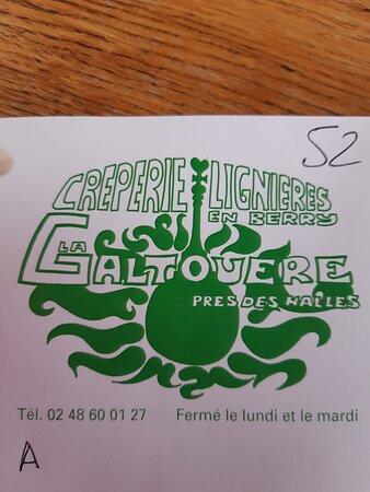 Lignieres, Frankrike: Logo du restaurant