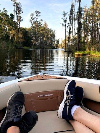 Florida Lake Tours: Best seat on the tour! Front row!