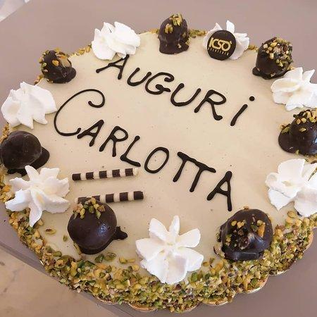 Torta compleanno semifreddo Pistacchio e gianduia