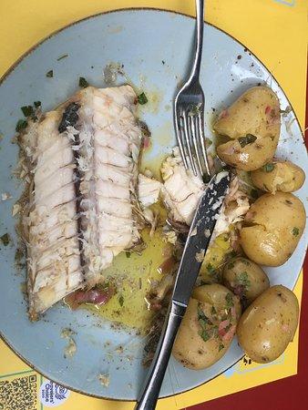 Gegrillte  Degenfisch war mehr gebacken dann gegrillt